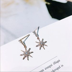 "New! ""Star Power"" Crystal Drop Women's Earrings"